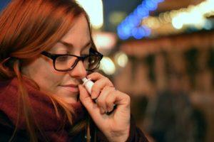 Nasenspray-Allergie